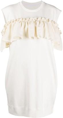 MM6 MAISON MARGIELA Cut Out Ruffled Short Dress