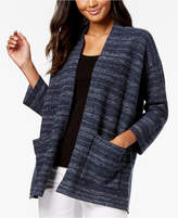 Eileen Fisher Organic Cotton Blend Striped Cardigan, Regular & Petite