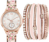 FASHION WATCHES Fashion Watches Womens Pink Watch Boxed Set