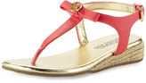 MICHAEL Michael Kors Perry Rita Wedge Thong Sandal, Watermelon, Youth