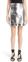 Proenza Schouler Women's Metallic Leather Miniskirt