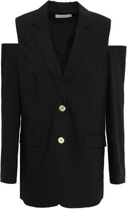 MICHAEL Michael Kors Cold-shoulder Wool-blend Blazer