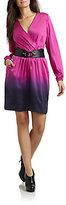 Akiko Silk Dip-Dyed Belted Dress
