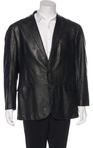 Ralph Lauren Black Label Leather Blazer