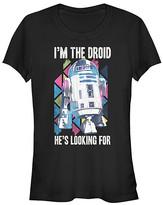 Fifth Sun Women's Tee Shirts BLACK - Star Wars Black 'I'm the Droid He's Looking For' Crewneck Tee - Women & Juniors