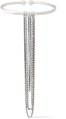 McQ Silver-tone Crystal Necklace
