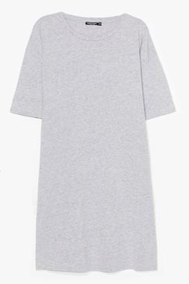 Nasty Gal Womens Easy Does It Plus Tee Dress - Grey - 16, Grey