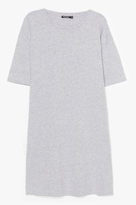 Nasty Gal Womens Easy Does It Plus Tee Dress - Grey