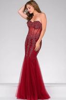Jovani Long Strapless Sweetheart Mermaid Bodice Prom Dress 5908