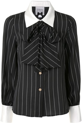 Edward Achour Paris Stripe Pussy-Bow Blouse