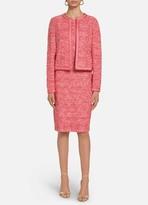 St. John Marled Space Dyed Tweed Knit Trim Jacket