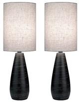 Lite Source Quatro II 2 Light Table Lamp - Brushed Dark Bronze - Pack of 2