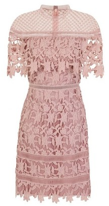 Dorothy Perkins Womens Chi Chi London Soft Blush Crochet Skirt Dress