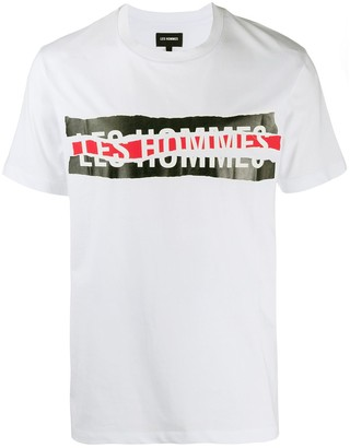 Les Hommes broken logo T-shirt