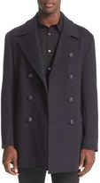 John Varvatos Men's Trim Fit Wool & Cashmere Peacoat