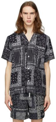 Bather Black Bandana Camp Shirt
