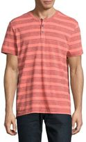 Kenneth Cole Textured Striped Henley