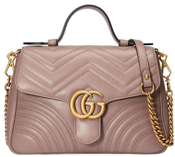 530921c2fa65 Gg Marmont Leather Top Handle Bag - ShopStyle