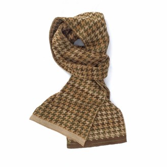 Studio Myr Luxury Scarf In Pieds-De-Poule Pattern With A Twist Tweed Moss.