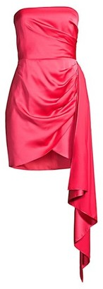 Jay Godfrey Milton Draped Satin Dress