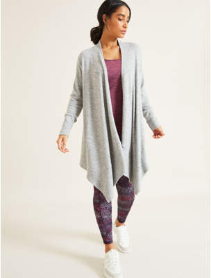 George Light Grey Waterfall Cardigan