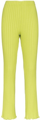 Simon Miller Cyrene ribbed straight leg trousers