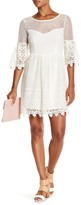 Flying Tomato Lace Bell Sleeve Dress