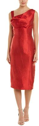 Oscar de la Renta Silk-Blend Sheath Dress