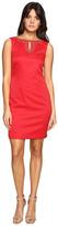 Ellen Tracy Pique Dress w/ Neckline Embellishment
