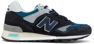 New Balance Made In Uk 577 Suede And Mesh Trainers - Black Multi