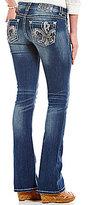 Miss Me Fleur De Lis Embellished Pocket Bootcut Jeans
