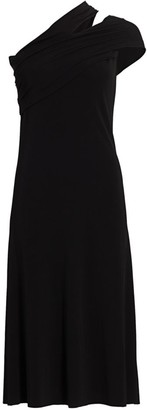 Helmut Lang One-Shoulder Jersey Dress