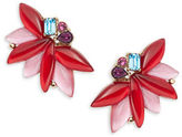 Oscar de la Renta Stone Wing Stud Earrings