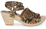 Thumbnail for your product : Etienne Aigner Ankle-Strap Leather Clogs