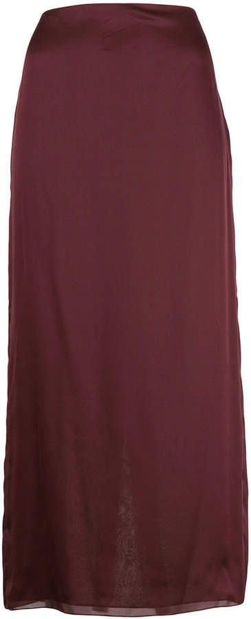 The Row a-line midi skirt