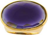 BIJOUX BAR ATHRA Purple Glass Oval Ring