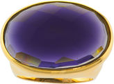 JCPenney FINE JEWELRY ATHRA Purple Glass Oval Ring