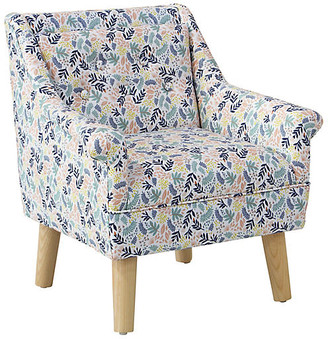 One Kings Lane Bella Kids' Accent Chair - Floral Blush - frame, natural; upholstery, floral blush/multi