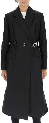 Prada D Ring Hook Detail Wrap Coat