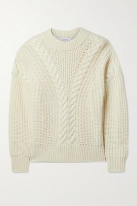 La Ligne Cable-knit Cashmere Sweater - Cream