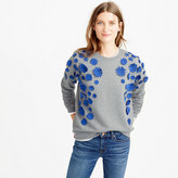 J.Crew Embellished flower sweatshirt