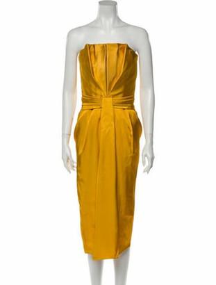 Brandon Maxwell 2019 Knee-Length Dress w/ Tags Yellow