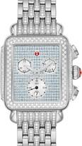 Michele Deco Diamond Chronograph Watch Head & Bracelet, 33mm x 35mm