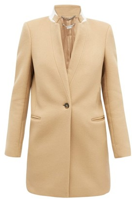 Stella McCartney Bryce Band-collar Wool Coat - Camel