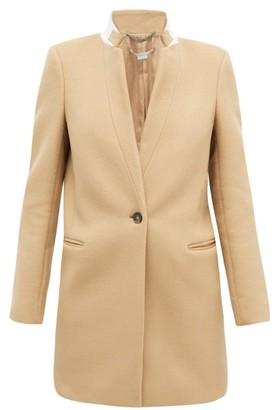 Stella McCartney Bryce Band-collar Wool Coat - Womens - Camel