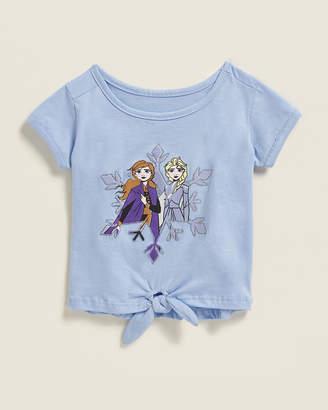 Frozen (Toddler Girls) Snowflake Friends Tie Front Short Sleeve Tee