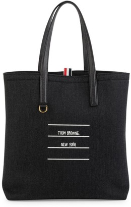 Thom Browne Shiny Tape Wool Lined Tote