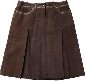 Paule Ka Brown Suede Skirt for Women