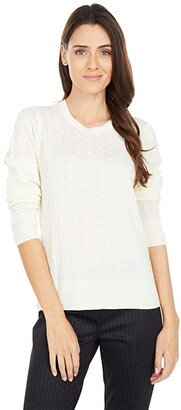 Pendleton Merino Cable Pullover (Ivory) Women's Sweater
