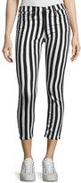 Rag & Bone Benton Bengal Stripe Capri Jeans, Black/White